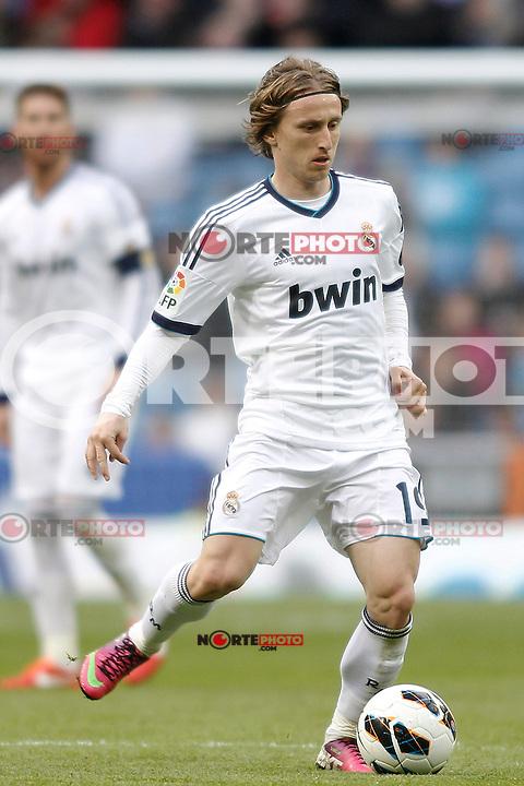 Real Madrid's Luka Modric during La Liga BBVA match. April 6, 2013.(ALTERPHOTOS/Alconada)