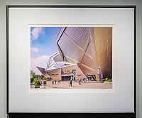 """Framed Size 20""""h x 24""""w, $450<br /> Graphite Nielsen 15 metal frame"""