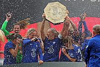 29th August 2020; Wembley Stadium, London, England; Community Shield Womens Final, Chelsea versus Manchester City; Magdalena Eriksson of Chelsea Women celebrates with the Community Shield after their win