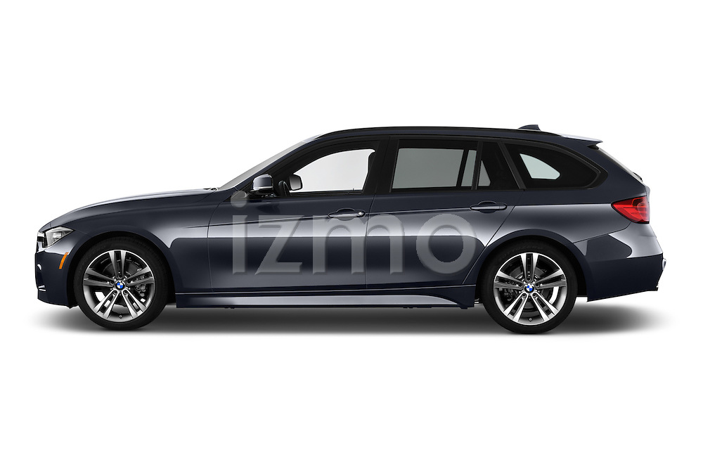 Car Driver side profile view of a 2018 BMW 3-Series 328d-Sports-Wagon 5 Door Wagon Side View
