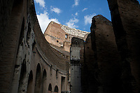 The ruins of the Colosseum are seen on Wednesday, Sept. 23, 2015, in Rome, Italy. (Photo by James Brosher)