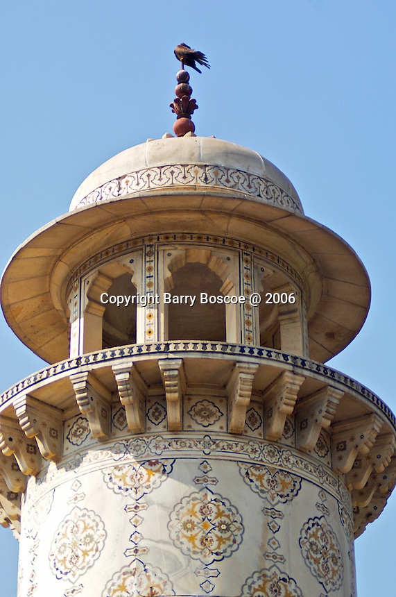 Itmad-ud-Daula's Tomb, is a Mughal mausoleum in the city of Agra in the Indian state of Uttar Pradesh. Often described as 'jewel box', sometimes called the 'Baby Ta?j', the tomb of I'tima?d-ud-Daulah is often regarded as a draft of the Ta?j Mahal..