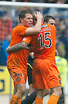 St Johnstone v Dundee Utd....21.04.12   SPL.John Rankin celebrates his goal.Picture by Graeme Hart..Copyright Perthshire Picture Agency.Tel: 01738 623350  Mobile: 07990 594431