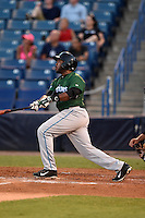 Daytona Tortugas outfielder Phillip Ervin (6) at bat during a game against the Tampa Yankees on April 24, 2015 at George M. Steinbrenner Field in Tampa, Florida.  Tampa defeated Daytona 12-7.  (Mike Janes/Four Seam Images)