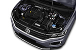 Car stock 2018 Volkswagen T-Roc Elegance 5 Door SUV engine high angle detail view