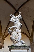 Italy, Florence La Loggia della Signoria, Giambologna Statue Ratto delle sabine