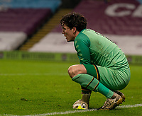 9th January 2021; Turf Moor, Burnley, Lanchashire, England; English FA Cup Football, Burnley versus Milton Keynes Dons; Lee Nicholls of MK Dons dejected after conceding the last minute equaliser in normal time and going to extra time.