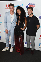 Roman Kemp, Vik Hope and Sonny Jay<br /> in the press room for the Capital Summertime Ball 2018 at Wembley Arena, London<br /> <br /> ©Ash Knotek  D3407  09/06/2018