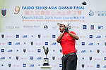 Muhammad Minhaj Maqsood Warraic of Pakistan tees off at tee one during the 9th Faldo Series Asia Grand Final 2014 golf tournament on March 18, 2015 at Faldo course in Mid Valley clubhouse in Shenzhen, China. Photo by Xaume Olleros / Power Sport Images