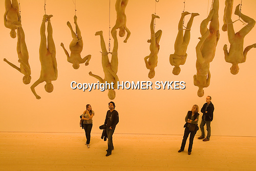 """The Saatchi Gallery. The Duke of York Headquarters, Chelsea, London UK 2008. The Revolution Continues: New Art from China. """"Chinese Offspring by Zhang Dali."""