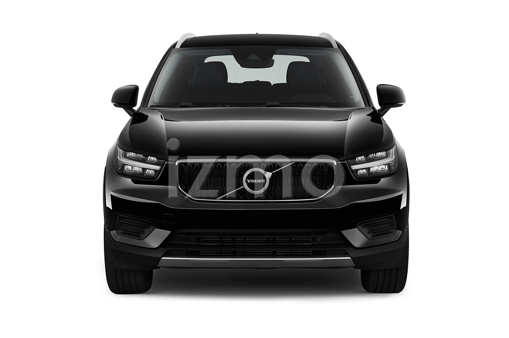 Car photography straight front view of a 2020 Volvo XC40 Momentum 5 Door SUV Front View