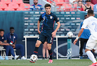 DENVER, CO - JUNE 3: Giovanni Reyna #7 of the United States dribbles with the ball during a game between Honduras and USMNT at EMPOWER FIELD AT MILE HIGH on June 3, 2021 in Denver, Colorado.