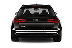 Straight rear view of a 2019 Audi RS 6 Avant Base 5 Door Wagon stock images
