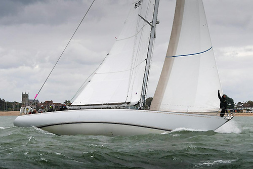 Chris Cecil-Wright's Nicholson 55 Eager, skippered by Richard Powell. Eager was the first Nicholson 55 launched when she was famously the Lloyd's of London Yacht Club's Lutine