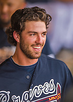 14 March 2016: Atlanta Braves infielder Dansby Swanson, ranked the Number One Top Prospect in the Braves organization for 2016 by both MLB and Baseball America, watches play from the dugout during a Spring Training pre-season game against the Tampa Bay Rays at Champion Stadium in the ESPN Wide World of Sports Complex in Kissimmee, Florida. The Braves shut out the Rays 5-0 in Grapefruit League play. Mandatory Credit: Ed Wolfstein Photo *** RAW (NEF) Image File Available ***