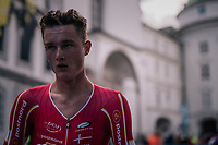 Mathias Norsgaard (DEN) after finishing / will become 3rd (bronze medal) eventually<br /> <br /> MEN UNDER 23 INDIVIDUAL TIME TRIAL<br /> Hall-Wattens to Innsbruck: 27.8 km<br /> <br /> UCI 2018 Road World Championships<br /> Innsbruck - Tirol / Austria