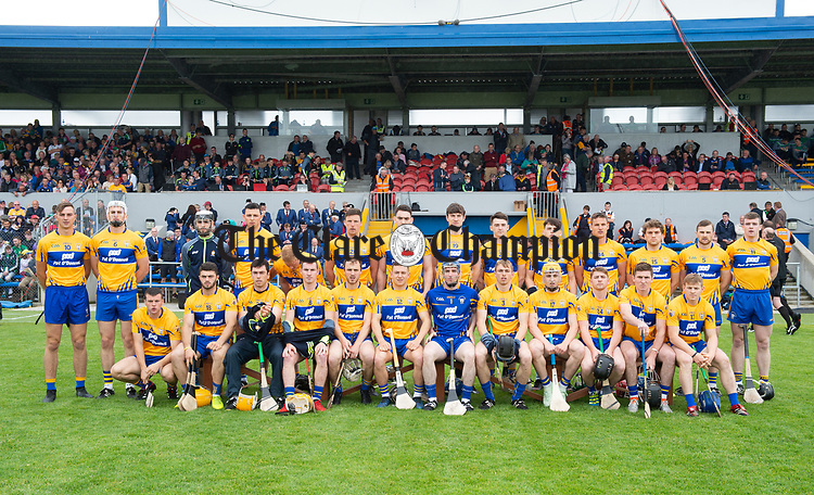 The Clare team before their Munster championship game against  Limerick in Ennis. Photograph by John Kelly.