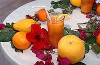 Obst und Säfte in Houmt Souk, Djerba, Tunesien