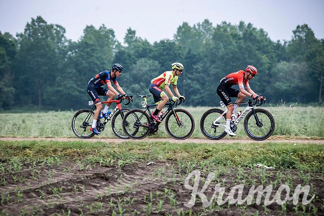 Amaury Capiot (BEL/Arkea Samsic), Sean De Bie (BEL/Bingoal Pauwels Sauces WB), Toon Aerts (BEL/Baloise Trek Lions)<br /> <br /> 17th Dwars Door Het Hageland 2021<br /> One Day Race: Aarschot – Diest 18Okm (UCI 1.Pro)<br /> Bingoal Cycling Cup 2021<br /> <br /> ©kramon
