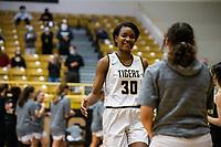 Maryam Dauda  (30) of Bentonville gets introduced in starting lineup for [Bentonville at Tiger Arena, Bentonville, AR January 5, 2021 / Special to NWA Democrat-Gazette/ David Beach