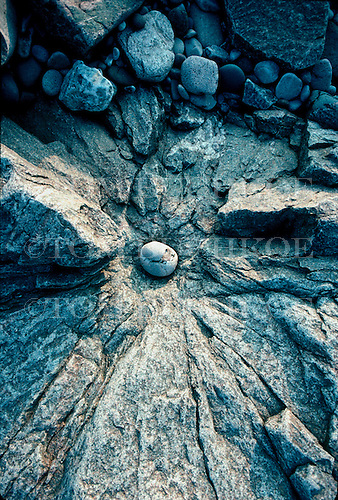 Boulders along a rocky shore on Lake Superior.