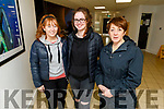 Brona Finnegan and Grace O'Sullivan with lecturer Brid O'Dwyer in the IT Tralee last Thursday.