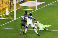 ST PAUL, MN - SEPTEMBER 27: Andrew Putna #51 of Real Salt Lake with the save during a game between Real Salt Lake and Minnesota United FC at Allianz Field on September 27, 2020 in St Paul, Minnesota.
