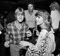 1982, ABN WTT, Mel Purcell vermaakt zich op de playersnight