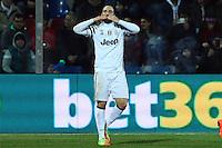 Esultanza Gol Gonzalo Higuain Juventus Goal celebration 0-2 <br /> Crotone 08-02-2017 Stadio Ezio Scida <br /> Football Calcio Serie A 2016/2017 Crotone - Juventus  <br /> Foto Cesare Purini Insidefoto