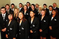 The NZ team pose for a team photo. Trans-Tasman NZ teams at Royal Wellington Golf Club, Wellington, New Zealand on Sunday, 28 March 2010. Photo: Dave Lintott / lintottphoto.co.nz
