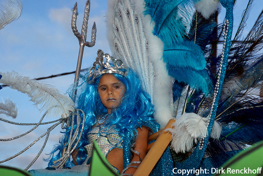 Spanien, Kanarische Inseln, Fuerteventura, Kinderkarneval in Antigua