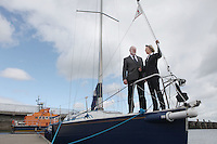 ****NO FEE PIC**** .Harbourmaster Simon Coate.Her Excellency Emmanuelle D'Achon French Ambassador to Ireland.at the National Yacht Club Dun Laoghaire to launch Festival Des Bateaux which takes place between August 11th and 14th 2011 .Dun Laoghaire will be the only international stop on the world famous French Solitaire du Figaro yacht race.  To celebrate the stopover of this iconic 3,390 km race, Dun Laoghaire Rathdown County Council, the Dun Laoghaire Harbour Company and the National Yacht Club have joined forces to create Festival des Bateaux.  The harbour will be a magnificent tapestry of colour as the boats arrive for this international event.  Dun Laoghaire will be resplendent with fireworks, music and the sights, sounds, foods, and 'joie de vivre' of France..Photo: Gareth Chaney Collins