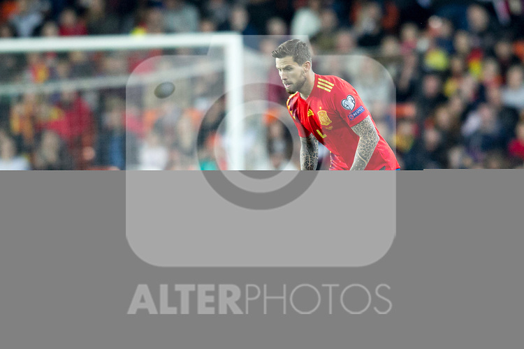 Spain's Inigo Martinez  during the qualifying match for Euro 2020 on 23th March, 2019 in Valencia, Spain. (ALTERPHOTOS/Alconada)