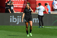 BRIDGEVIEW, IL - JULY 18: Mallory Pugh #9 of the Chicago Red Stars warms up before a game between OL Reign and Chicago Red Stars at SeatGeek Stadium on July 18, 2021 in Bridgeview, Illinois.