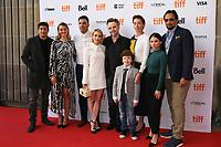 JASON BIGGS, JESS WEIXLER, ZACHARY QUINTO, EMMA ROBERTS, DIRECTOR MATTHEW NEWTON, LOGAN SMITH, JULIANNE NICHOLSON, CAMILA PEREZ AND JIMMY SMITS - RED CARPET OF THE FILM 'WHO WE ARE NOW' - 42ND TORONTO INTERNATIONAL FILM FESTIVAL 2017