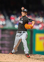 15 May 2016: Miami Marlins pitcher David Phelps on the mound against the Washington Nationals at Nationals Park in Washington, DC. The Marlins defeated the Nationals 5-1 in the final game of their 4-game series.  Mandatory Credit: Ed Wolfstein Photo *** RAW (NEF) Image File Available ***