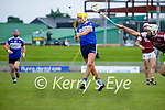 Kevin Hannafin, St. Brendans, in action against Jason Diggins, Causeway, during the County Senior hurling Semi-Final between St. Brendans and Causeway at Austin Stack park on Sunday.