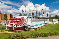 Historic Sternwheeler Riverboat Chena, now restored at the Pioneer Park, Fairbanks, Alaska.