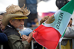 An elderly supporter of Andres Manuel Lopez Obrador, the leftist presidential candidate of the Democratic Revolutionary Party (PRD), attends the rally at the Mexico City's main plaza Zocalo, September 3, 2006. Photo by Heriberto Rodriguez