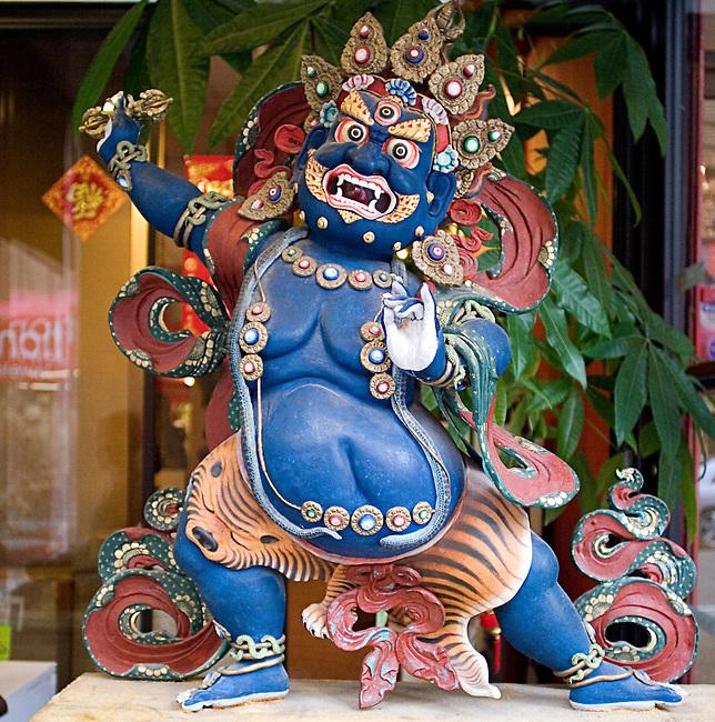 Antique Asian Statue, Chinatown San Francisco, California