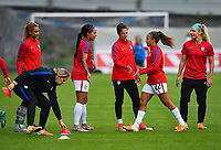 Sandefjord, Norway - June 11, 2017: The USWNT warm up prior to their game vs Norway in an international friendly at Komplett Arena.