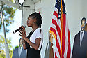 MIRAMAR,  FLORIDA - JANUARY 20: Singer Mecca Alexander performs at the annual Reverend Dr. Martin Luther King, Jr. Day celebration City Miramar MLK Parades between Sherman Cirrcle and Lakeshore Park on January 20, 2020 in Miramar, Florida.  ( Photo by Johnny Louis / jlnphotography.com )