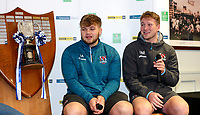 Monday 27th January 2020 | Ulster Schools' Cup Draw<br /> <br /> Ulster Rugby Academy player Stewart Moore speaking at  the draw for the Ulster Schools' Cup Quarter Finals held at Kingspan Stadium, Ravenhill Park, Belfast, Northern Ireland. Fixtures to be played on or before 8 Feb 2020.  Photo credit - John Dickson DICKSONDIGITAL