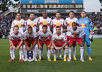 March 10th, 2013: New York Red Bulls' Starting 11before start soccer match against San Jose Earthquakes at Buck Shaw Stadium, Santa Clara, Ca.   Earthquakes defeated Red Bulls 2-1