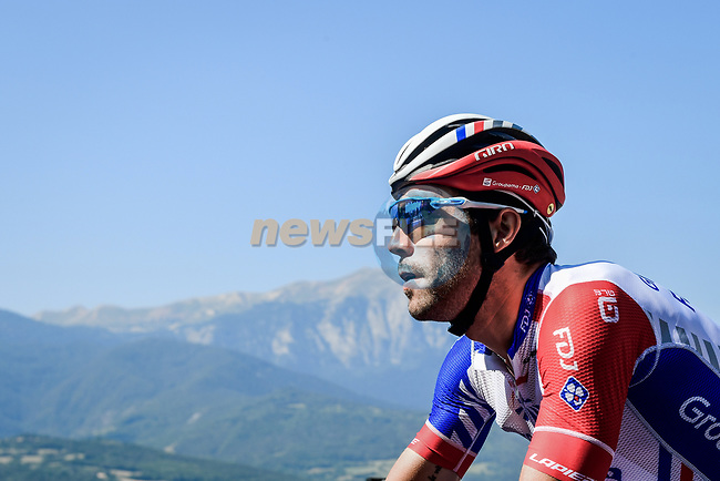 Thibaut Pinot (FRA) Groupama-FDJ climbs during Stage 18 of the 2019 Tour de France running 208km from Embrun to Valloire, France. 25th July 2019.<br /> Picture: ASO/Pauline Ballet | Cyclefile<br /> All photos usage must carry mandatory copyright credit (© Cyclefile | ASO/Pauline Ballet)