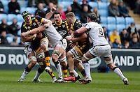Photo: Richard Lane/Richard Lane Photography. Wasps v Ospreys. Anglo-Welsh Cup. 05/02/2017. Wasps' James Gaskell attacks.