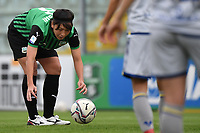 Mana Mihashi of Sassuolo prepares a free kick during the women Serie A football match between US Sassuolo and Hellas Verona at Enzo Ricci stadium in Sassuolo (Italy), November 15th, 2020. Photo Andrea Staccioli / Insidefoto
