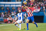 Stefan Savic of Atletico de Madrid fights for the ball with Pablo Insua of Deportivo Leganes during their La Liga match between Atletico de Madrid and Deportivo Leganes at the Vicente Calderón Stadium on 04 February 2017 in Madrid, Spain. Photo by Diego Gonzalez Souto / Power Sport Images