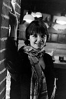 Diane Tell au restaurant le Fiacre<br /> , vers 1980<br /> <br /> Photographe: Jacques Thibault<br /> - Agence Quebec Presse