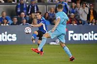 SAN JOSE, CA - AUGUST 17: Carlos Fierro #7 of the San Jose Earthquakes during a game between Minnesota United FC and San Jose Earthquakes at PayPal Park on August 17, 2021 in San Jose, California.